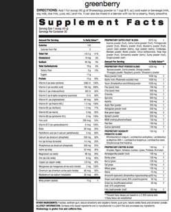 Greenberry Shakeology Nutrition Facts